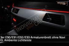 EL Ambiente Lichtleiste Ambientebeleuchtung für 3er E90 E91 E92 E93 ohne Navi  .