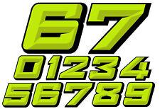NUMEROS COURSE RACING NUMBERS DRIFT JDM MOTO CROSS AUTOCOLLANT STICKER NU024VN