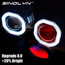 COB LED Angel Devil Eyes Halo HID Car Projector Bi-xenon Lens Headlight Retrofit
