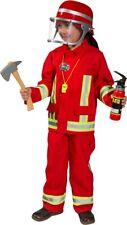 Feuerwehr Uniform Kinderkostüm rot NEU - Jungen Karneval Fasching Verkleidung Ko