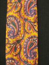 Vintage 1960'S-1970'S Cotton Squarebottomed Mustard Tie