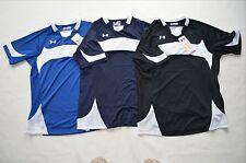 Under Armour Womens Dominate Short sleeve Jersey Shirt Heatgear Semi-Fitted