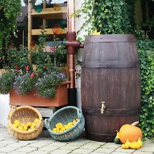 Regentonne Regenwassertank Regenwassertonne Weinfass Barrique 250L braun Fass