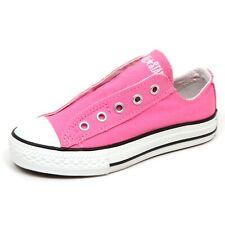 E5294 sneaker bimba CONVERSE ALL STAR SLIP ON fuxia shoe girl kid