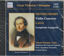 MENDELSSOHN CONCERTO VIOLIN LALO SINFONIA SPAGNOLA MENUHIN CD