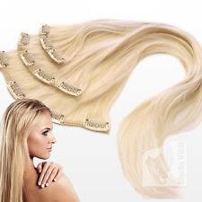 45cm Clip In Single Tresse Haarteil Remy Echthaar Extensions Haarverlängerung