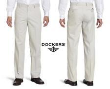 Dockers Men's Pants Slim Fit Signature Khaki Flat Front D1 Dress Pant NEW
