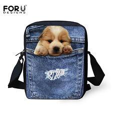 Blue Jane Print Dogs Sling Bag Kids Women Shoulder Bags Purse Crossbody Satchel