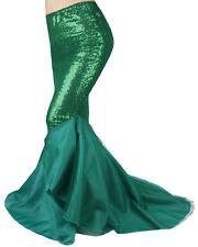 Sexy Women Mermaid Tail Skirt Slim Long Maxi Skirt Fancy Dress Party Costume