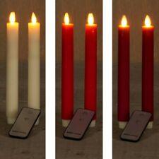 2 Stück Stabkerzen LED mit Fernbedienung Echtwachs LEDkerze 2erSETTafelkerzen