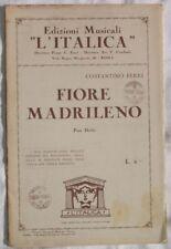 1929 COSTANTINO FERRI FIORE MADRILENO PASO DOBLE MUSICA