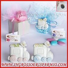 Bomboniere confettate nascita battesimo compleanno magneti trenino bimbo bimba