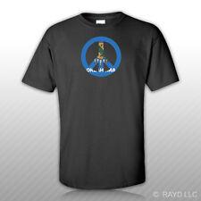 Oklahoma Flag Peace Symbol T-Shirt Tee Shirt Cotton Ok sign no war