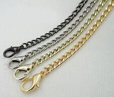 40 60 120 CM Lobster clasp Smooth Metal Chain for Handbag purse or Bag V30