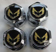 "Firebird/Trans Am Gold Bird Chrome 16"" Wheel Center Caps Set of 4 New 610-CHROME"