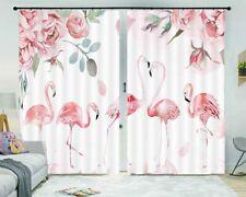 Intimate Pink Birds 3D Curtain Blockout Photo Printing Curtains Drape Fabric
