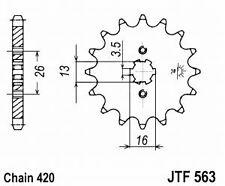 Pignon pr Kit Chaine SUZUKI YAMAHA LT DT RD 50 M MX   12 dents ( JTF563,12)