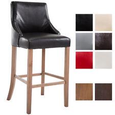 Tabouret de bar INNSBRUCK similicuir chaise haute bois cuisine rembourré dossier