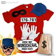 Karneval Kostüm f. Panzerknacker Fans T Shirt Fasching Verbrecher JGA Party