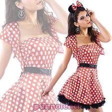Costume vestito carnevale donna TOPOLINA travestimento Halloween nuovo DL-021