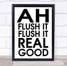 Lo scarico Divertente Bagno WC citazione Wall Art Print