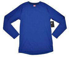 Men's NIKE Sportswear Bonded Long Sleeve Tee T-Shirt Top Gym Blue (B2) $70 NWT