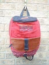 Vintage ELORA Backpack Cotton Bag, Sport, Retro, Handmade, Rucksack, Cool