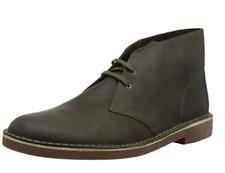 Clarks Bushacre 2 Men's Dark Olive Leather Desert Boots 26138382