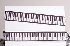 "PIANO KEYBOARD WHITE BLACK 7/8"" Grosgrain Ribbon 1, 5, 10 Yard SHIP FROM USA"