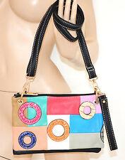 BORSELLO PELLE donna nero borsa pochette borsetta clutch bag сумка bolsa 45X1