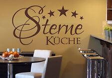 Wandaufkleber: 5 Sterne Küche - Essen Kochen Türaufkleber Esszimmer WandTattoo