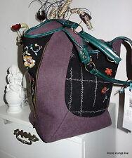 IVKO Merino Wool Bag beutel-tasche Purple Pastel Violet Embroidery