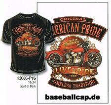 T-shirt #265 American pride made in Milwaukee, BIKER-MOTARD-shirt
