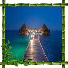 Pegatina autoadhesiva Marco bambú Casas zanco Tropiques7145