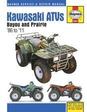 Kawasaki Bayou 220/250/300 & Prairie 300 ATVs 1986-2011 Haynes Workshop Manual