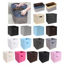 2-10Pcs Foldable Fabric Storage Cube Box Drawer Toys/Books/Clothes Organiser DIY