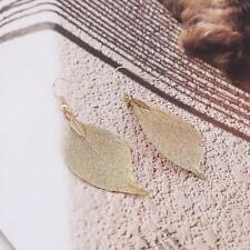 Creative Leaves Water Drop Dangle Earrings Simple Elegant Charm Jewelry H