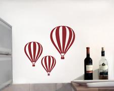 Wandtattoo Ballon 'Montgolfier' 3er Set 25 Farben 6 Größen Wandaufkleber Sticker