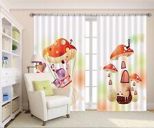 3D Mushroom House 632 Blockout Photo Curtain Printing Drapes Fabric Window CA