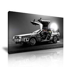 Ritorno al futuro DeLorean Classic Car tela Modern Wall Art 9 taglie a scelta