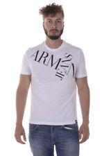 T-shirt Maglietta Armani Jeans AJ Sweatshirt % Uomo Bianco 6Y6T146J00Z-1100