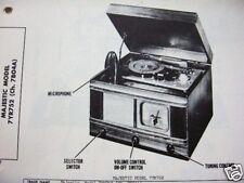 MAJESTIC 7YR752 RADIO - PHONOGRAPH - WIRE RECORDER PHOTOFACT