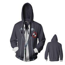 Men's Anime Printed Persona 5 Hoodies Outerwear Jackets zipper Sweatshirts Coat