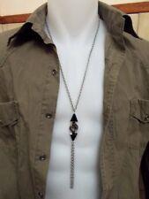 Chaine pendentif pour homme, flèches en cristal Swarovski, en acier chirurgical
