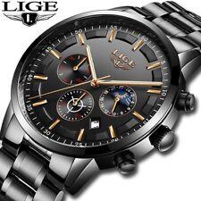 Montre Hommes LIGE De Mode Sport Quartz Horloge Hommes Montres Top