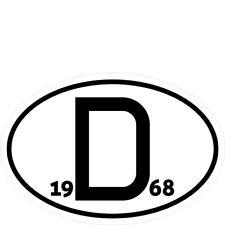Aufkleber D-Schild für Oldtimer mit Jahreszahl nach Wahl von 1955 bis 1992
