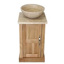 Guardaroba ROVERE BAGNO VANITY TRAVERTINO Stone Wash SUPPORTO E RUBINETTO LAVABO & opzione