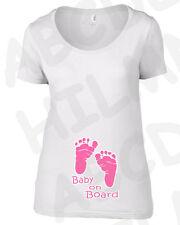 T-shirt grossesse Maternitè bebè empreintes pieds femelle PREGNANT personnalisé