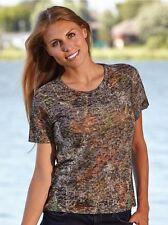 Mossy Oak Camo Ladies Shirt, Camouflage Burnout T-Shirt