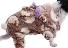 Hundejacke Jacke S M L XL XXL Hund Fleece weich warm Hundemantel braun Overall
